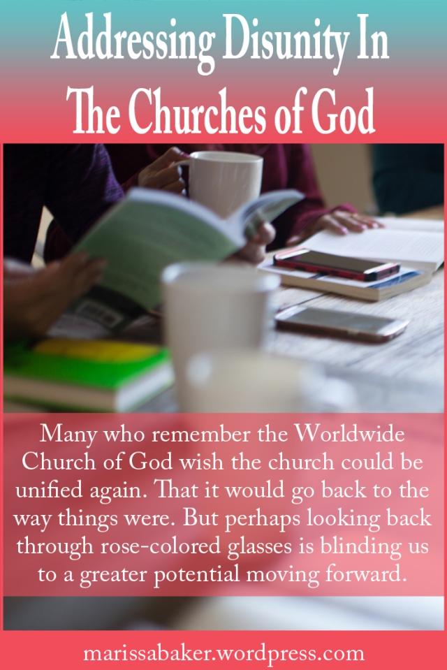 Addressing Disunity In The Churches of God | marissabaker.wordpress.com