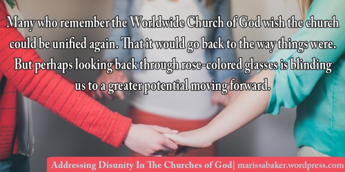 Addressing Disunity In The Churches of God | marissabaker.wordpress.com