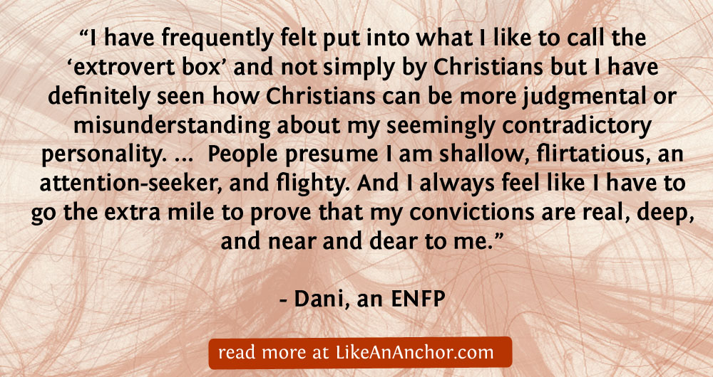 All Your Heart, Mind, and Soul: ENFP Christians – Like An Anchor