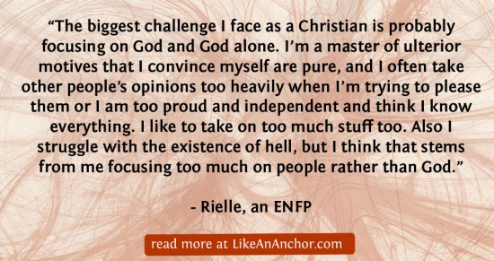 All Your Heart, Mind, and Soul: ENFP Christians | LikeAnAnchor.com