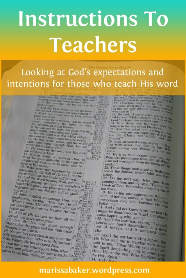 Instructions To Teachers | marissabaker.wordpress.com