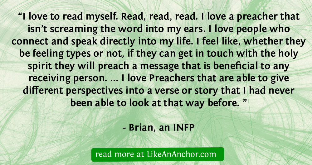 That Which Every Joint Supplies: INFP Christians – Like An