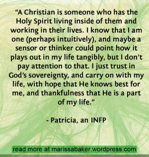 INFP - Join me for a blog series discussing Christianity from the perspectives of different personality types. | marissabaker.wordpress.com