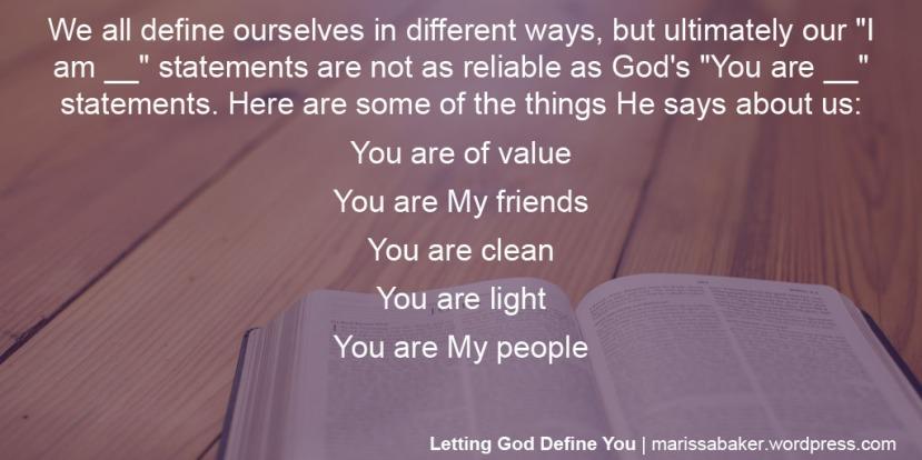 Letting God DefineYou