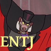 Ratigan - ENTJ. Visit marissabaker.wordpress.com for more Disney villain types