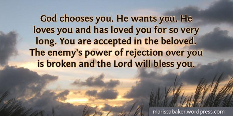 I Am Chosen | marissabaker.wordpress.com