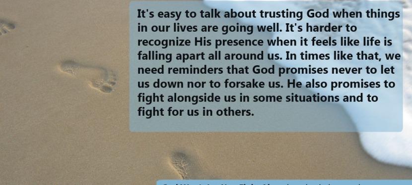 God Won't Let You FightAlone