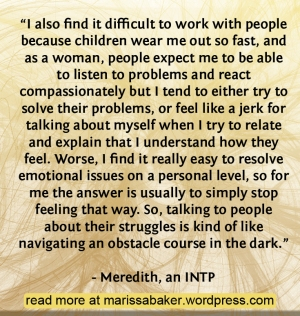 To Seek And Search Out By Wisdom: INTP Christians | marissabaker.wordpress.com
