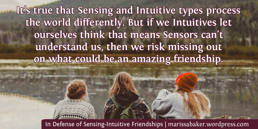 In Defense of Sensing-Intuitive Friendships