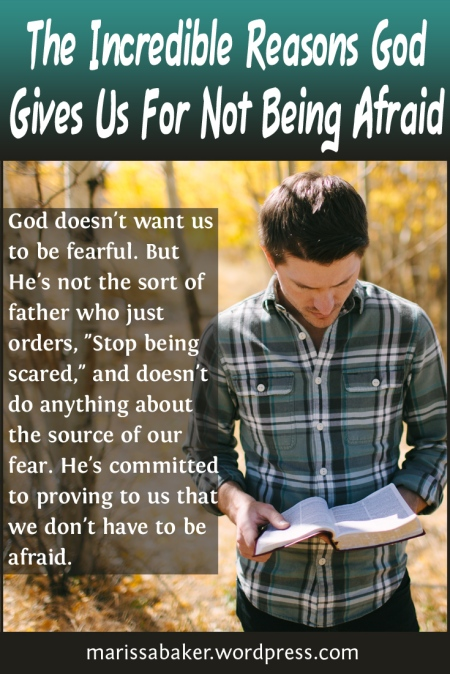 The Incredible Reasons God Gives Us For Not Being Afraid Looking At Scriptural Mission Statements For People Following Jesus | marissabaker.wordpress.com