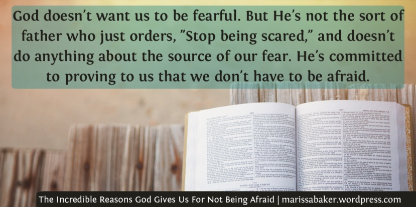 The Incredible Reasons God Gives Us For Not Being Afraid