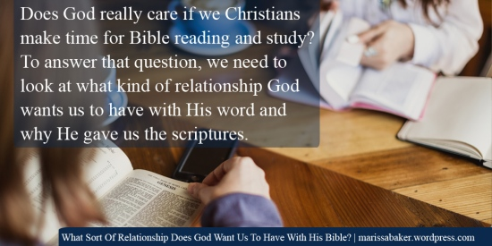 What Sort Of Relationship Does God Want Us To Have With His Bible? | marissabaker.wordpress.com