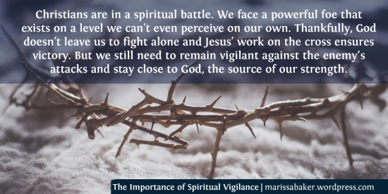 The Importance of Spiritual Vigilance | marissabaker.wordpress.com