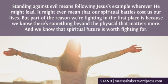 Stand | marissabaker.wordpress.com