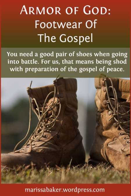 Footwear Of The Gospel | marissabaker.wordpress.com