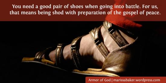 Footwear Of The Gospel | marissabaker.wordpress.com