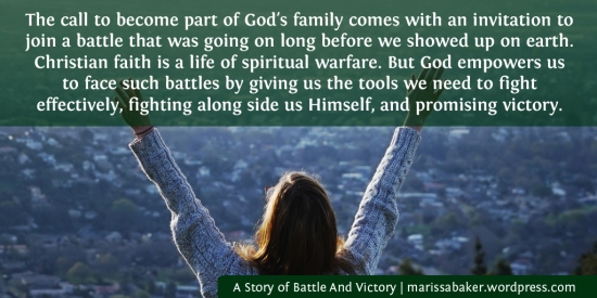 A Story of Battle And Victory | marissabaker.wordpress.com