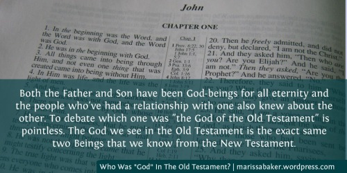 "Who Was ""God"" In The Old Testament? 