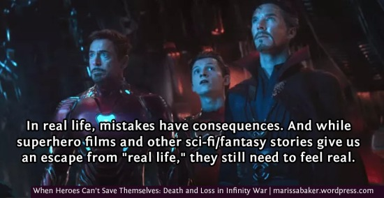 When Heroes Can't Save Themselves: Death and Loss in Infinity War | marissabaker.wordpress.com