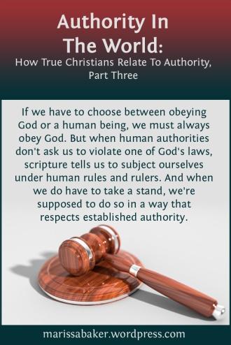 Authority In The World | marissabaker.wordpress.com