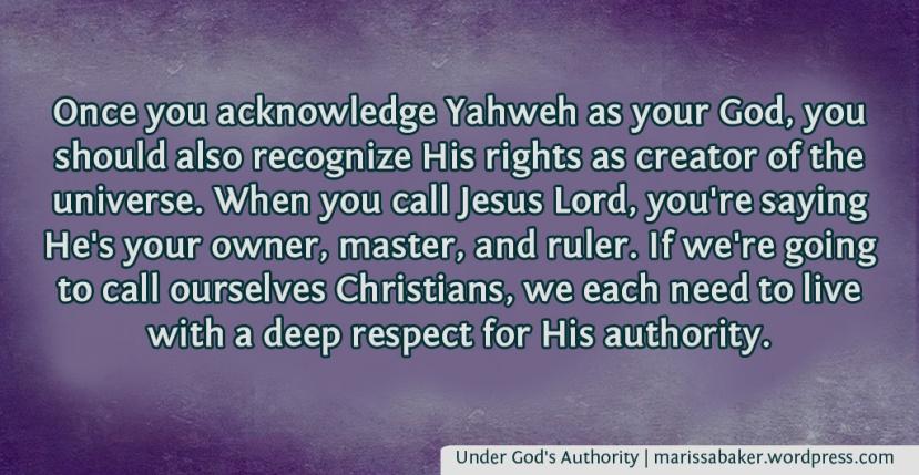 Under God's Authority