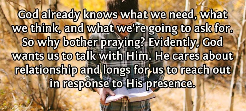 Reasons to Pray: Building Relationship WithGod
