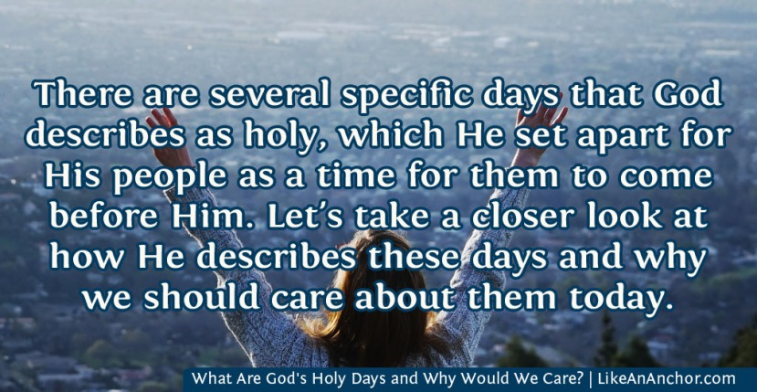 What Are God's Holy Days and Why Would We Care?