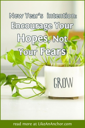 Encourage Your Hopes, Not Your Fears | LikeAnAnchor.com