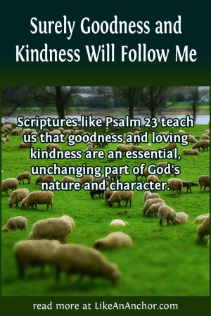 Surely Goodness and Kindness Will Follow Me | LikeAnAnchor.com