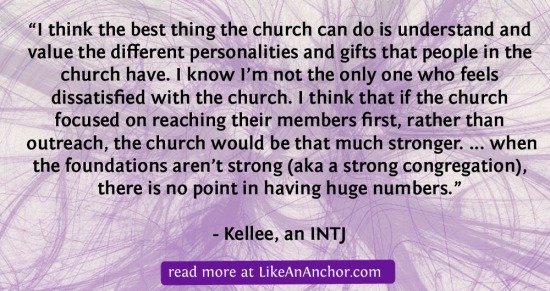 As For Me, I Will Serve The Lord: INTJ Christians | LikeAnAnchor.com