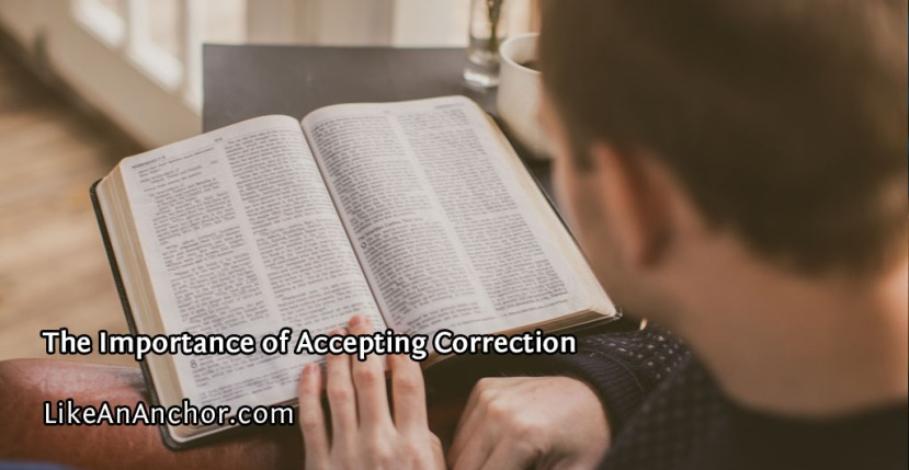 The Importance of Accepting Correction