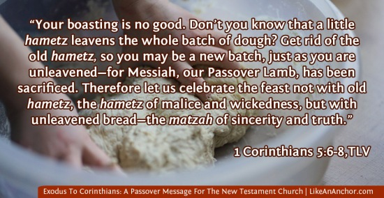 Exodus To Corinthians: A Passover Message For The New Testament Church | LikeAnAnchor.com