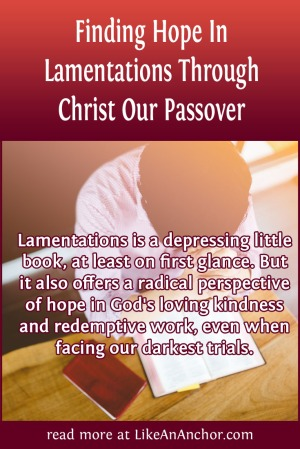 Finding Hope In Lamentations Through Christ Our Passover | LikeAnAnchor.com
