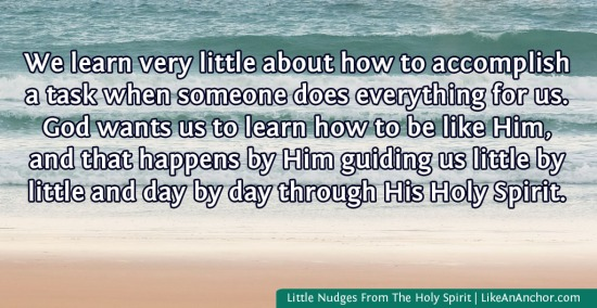 Little Nudges From The Holy Spirit | LikeAnAnchor.com