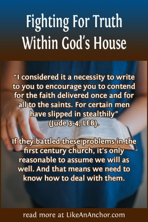 Fighting For Truth Within God's House   LikeAnAnchor.com