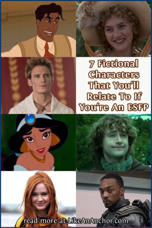 7 Fictional Characters That You'll Relate To If You're An ESFP | LikeAnAnchor.com