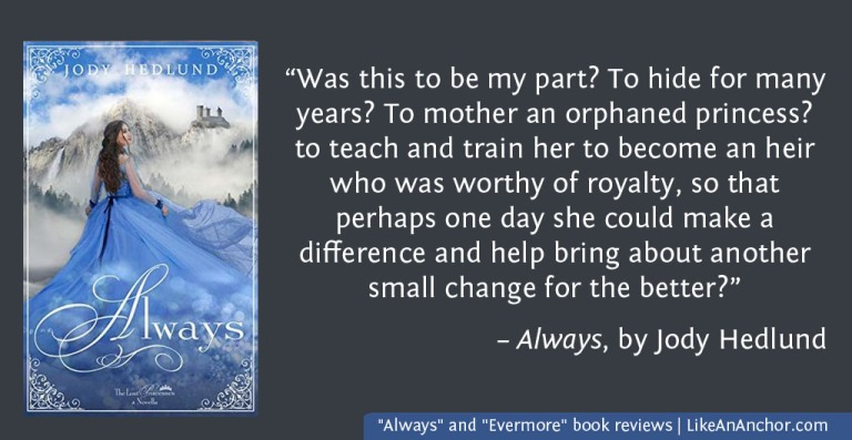 """Always"" and ""Evermore"" book reviews   LikeAnAnchor.com"