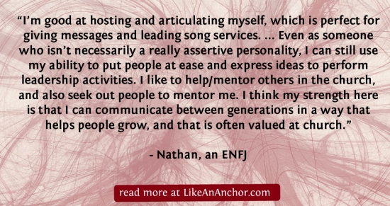 I Have Become All Things To All People: ENFJ Christians | LikeAnAnchor.com