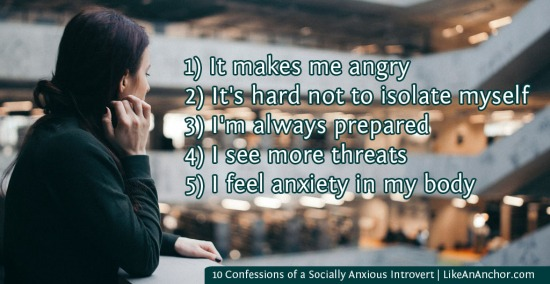 10 Confessions of a Socially Anxious Introvert | LikeAnAnchor.com