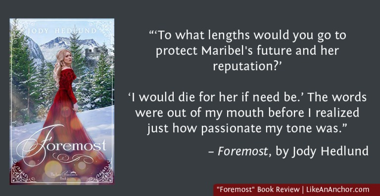 """Foremost"" Book Review -- A new Fairy Tale Story from Jody Hedlund 
