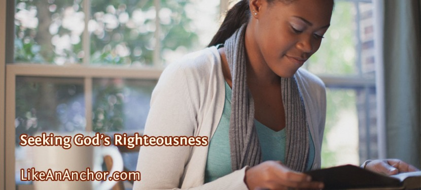 Seeking God's Righteousness