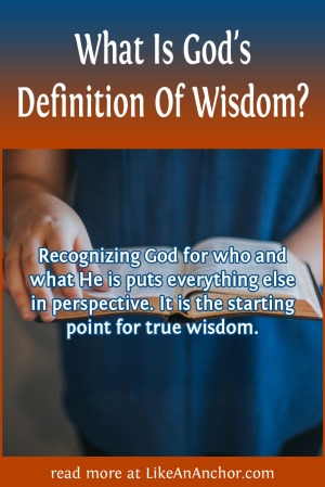 What Is God's Definition Of Wisdom? | LikeAnAnchor.com