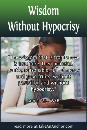 Wisdom Without Hypocrisy | LikeAnAnchor.com