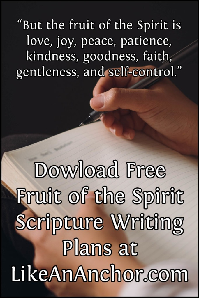 Free Scripture Writing Plans at LikeAnAnchor.com
