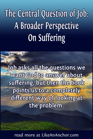 The Central Question of Job: A Broader Perspective On Suffering | LikeAnAnchor.com