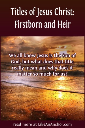Titles of Jesus Christ: Firstborn and Heir | LikeAnAnchor.com