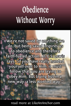 Obedience Without Worry | LikeAnAnchor.com