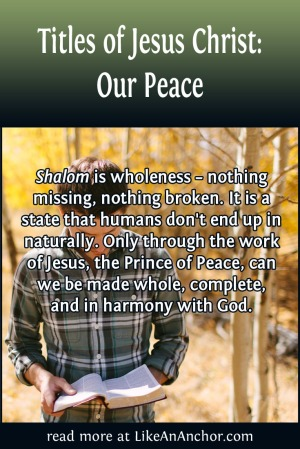 Titles of Jesus Christ: Our Peace | LikeAnAnchor.com
