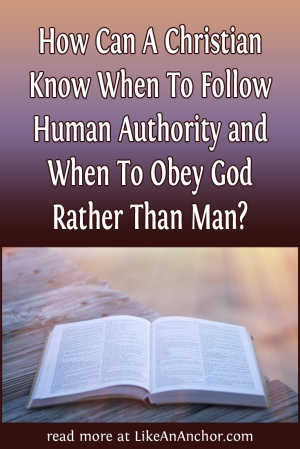 How Can A Christian Know When To Follow Human Authority? | LikeAnAnchor.com
