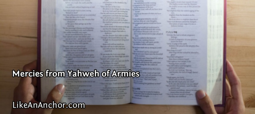 Mercies from Yahweh ofArmies